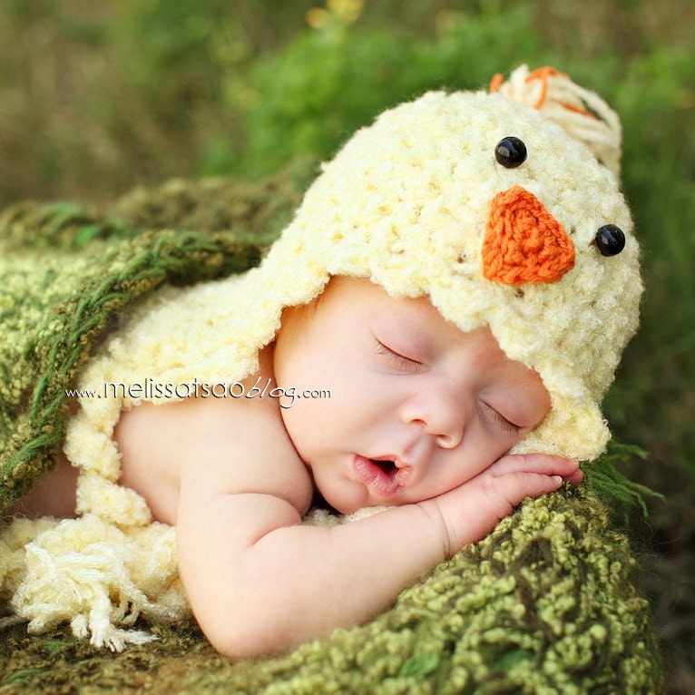 Little Chick hatchling hat for spring newborn photos