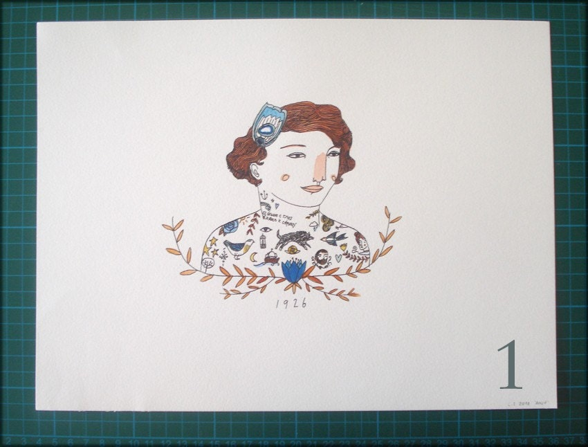 Anja's Tattoos Custom prints 1-5