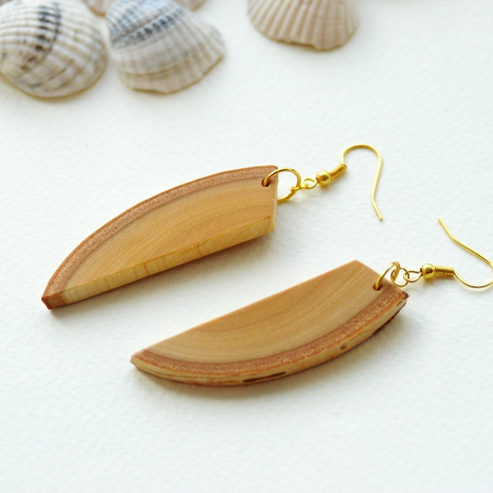 butterfly wings... natural birch wood Earrings...