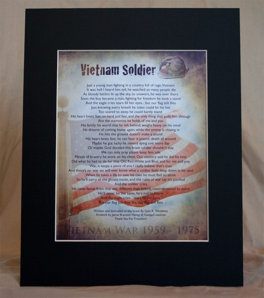 Vietnam  Soldier Tribute montage with poem