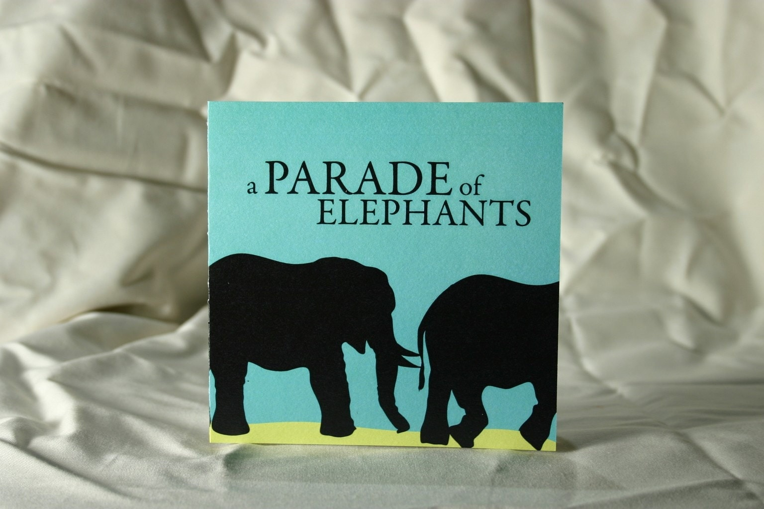 A Parade of Elephants Greeting Card