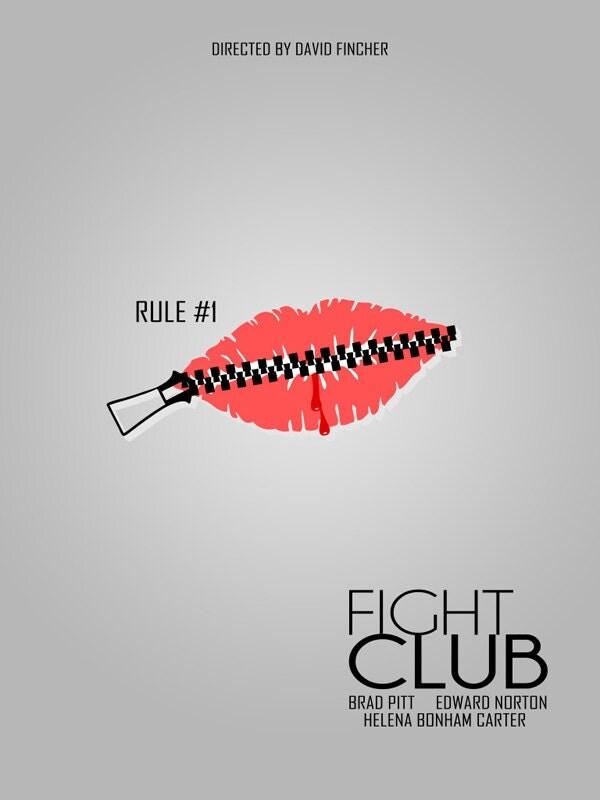 Minimalist Classroom Rules : Items similar to fight club minimalist movie film poster