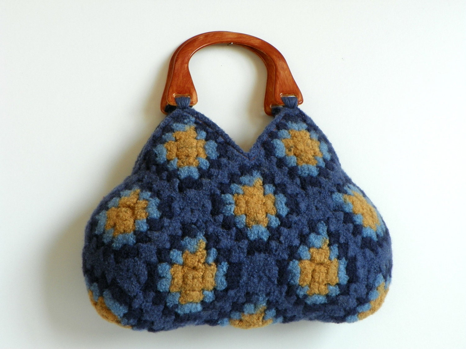 Items similar to Crochet felt bag NzLbags, Felted Wool Crochet Granny ...