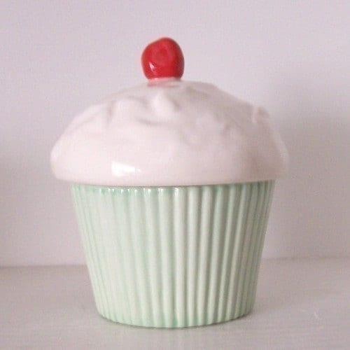 Cupcake Trinket Box Celadon