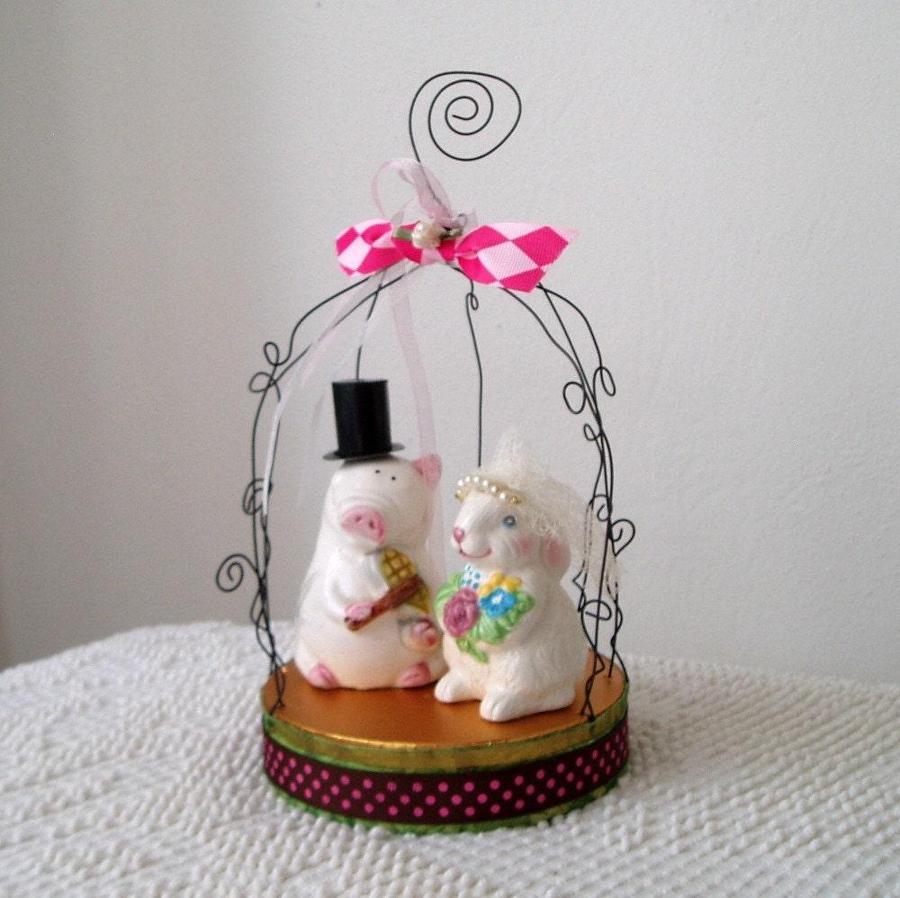 Farm Theme Wedding Cake Topper