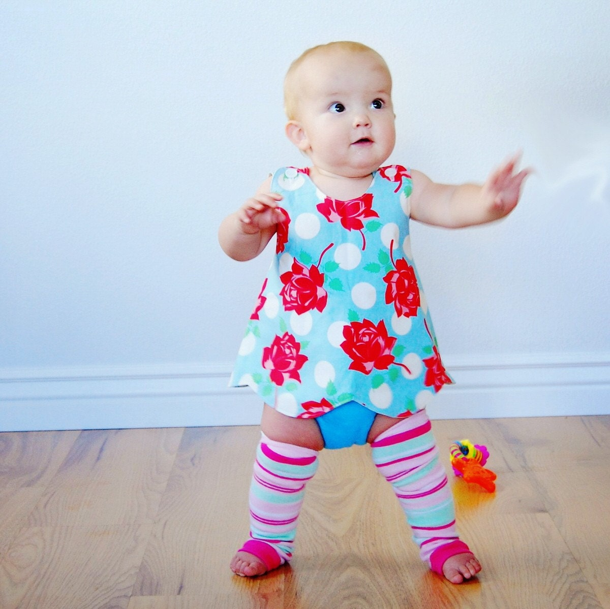 MADE TO ORDER Retro Pinafore for Toddler Size 6 Mo to 3T - msliesenfelder