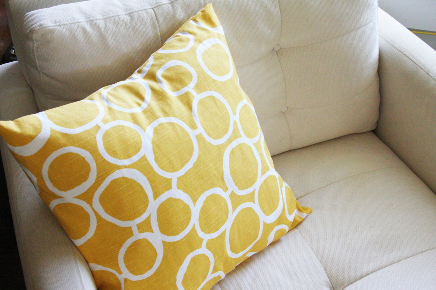 True Modern Pillows : Modern Accent Pillow Covers Hand Drawn Circles by izyandoly