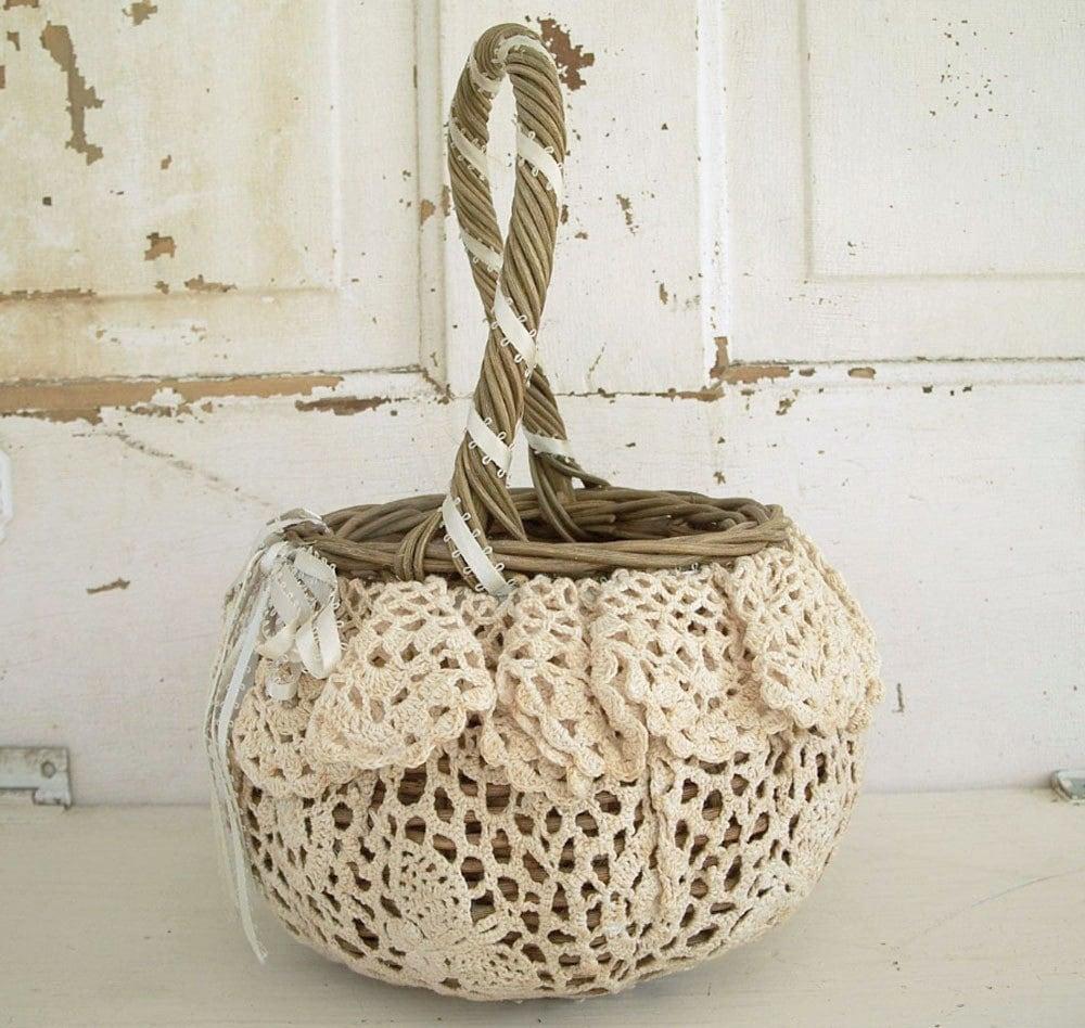 Vintage Prairie Basket Crochet Doily