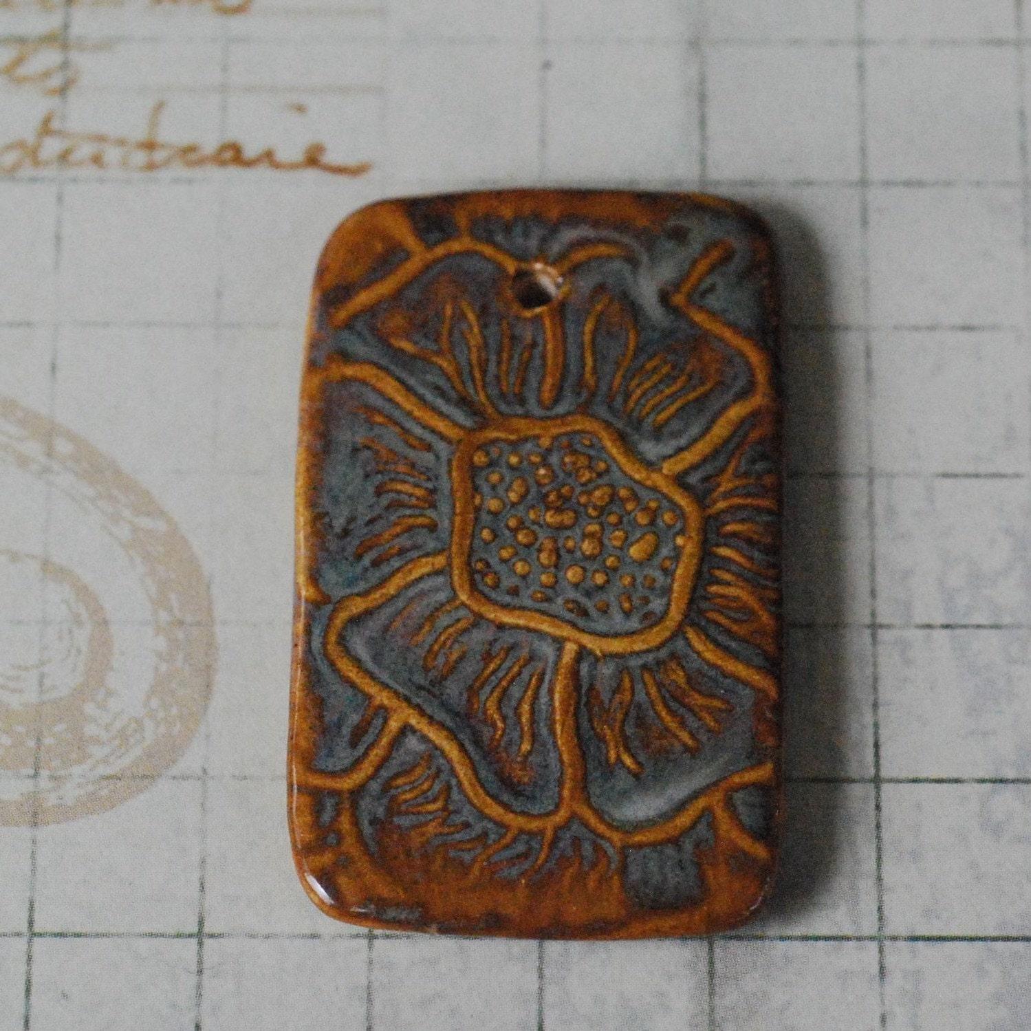 Porcelain Pendants Beads Texture Porcelain Pendant