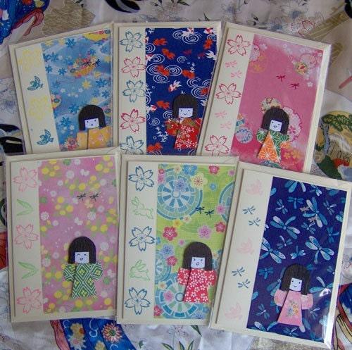 Etsuko Dragonfly Card - Japanese Girl