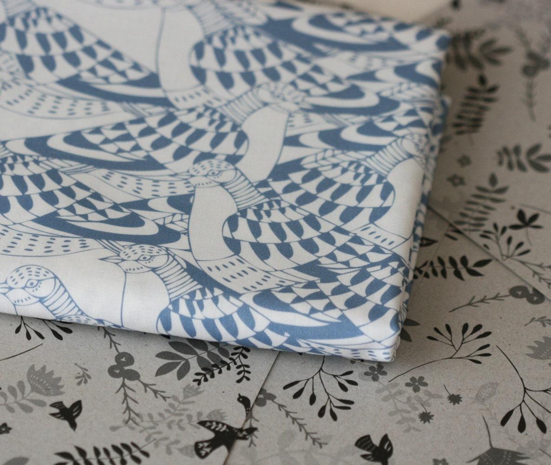 Passenger Pigeon Fabric - Half Yard - LilaRubyKingShop