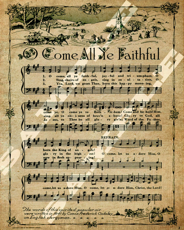 download christmas song o come all ye faithful