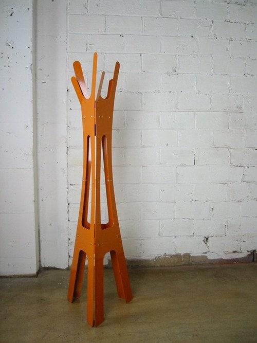 Merkled Coat Rack - Burnt Orange