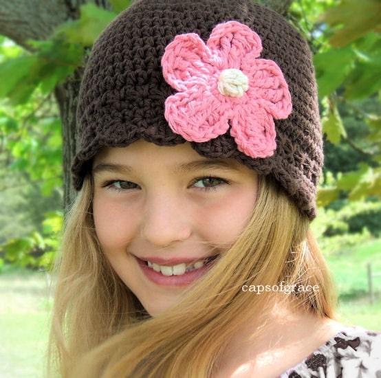 Girls Flower Hat Crochet Pattern