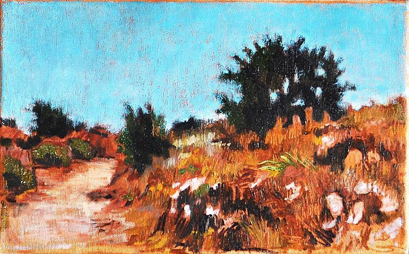 San Diego, California Landscape Painting, Balboa Park