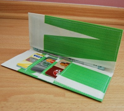 CLEARANCE Eco Recycled Billboard Banner Long Wallet No. 6