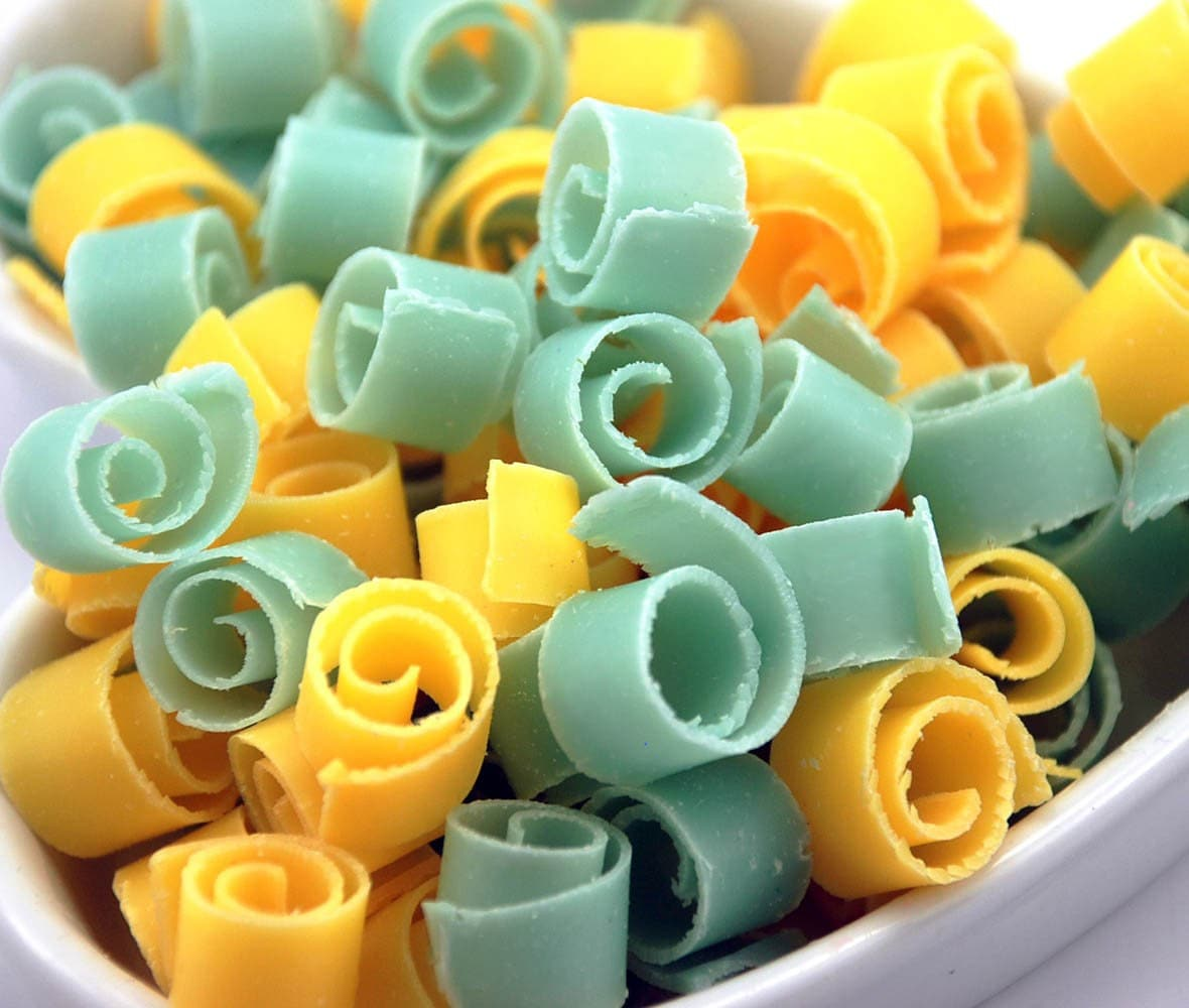 Soap Confetti Unscented Cold Process Soap in Aqua and Sunshine Yellow