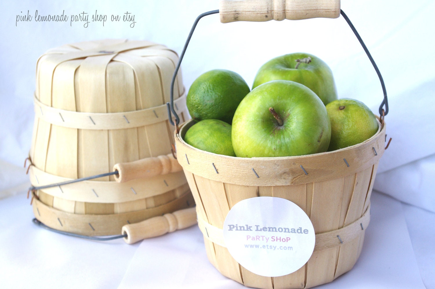 Mini apple baskets set of adorable birch by
