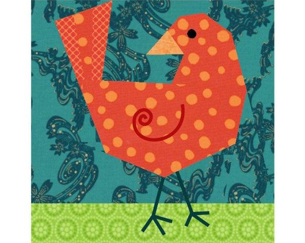 004 Bird Paper Piecing Pattern - Precious Piecings