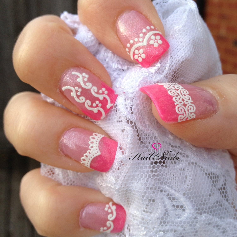 Дизайн ногтей свадебных кружева