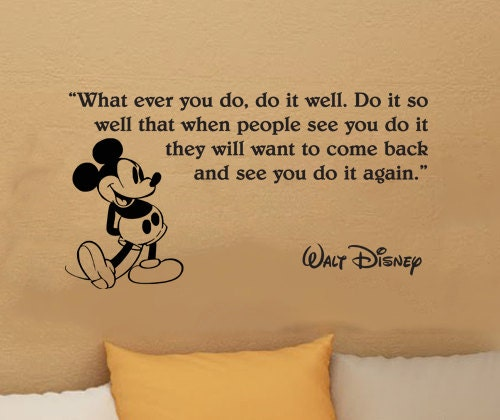 Items similar to Walt Disney Mickey Mouse What ever you do ...