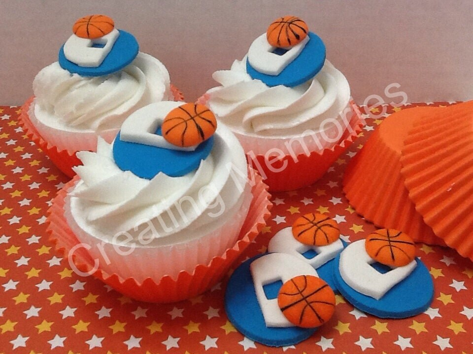 Basketball Edible Cake Images : SCORE Only but NET with these Edible Basketball Cupcake by ...