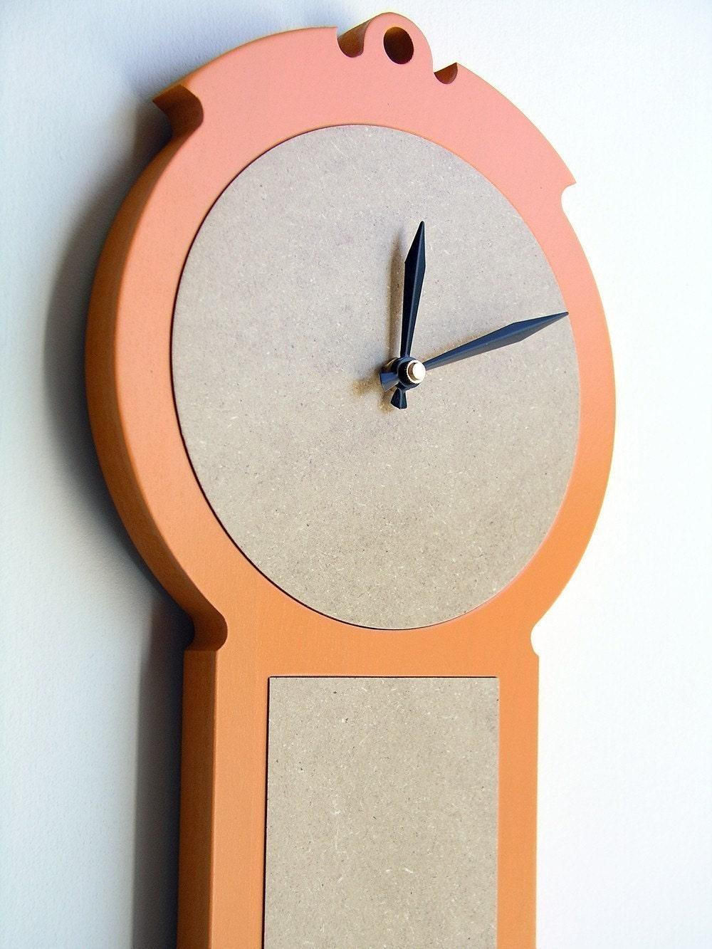 tangerine modern colonial wall clock