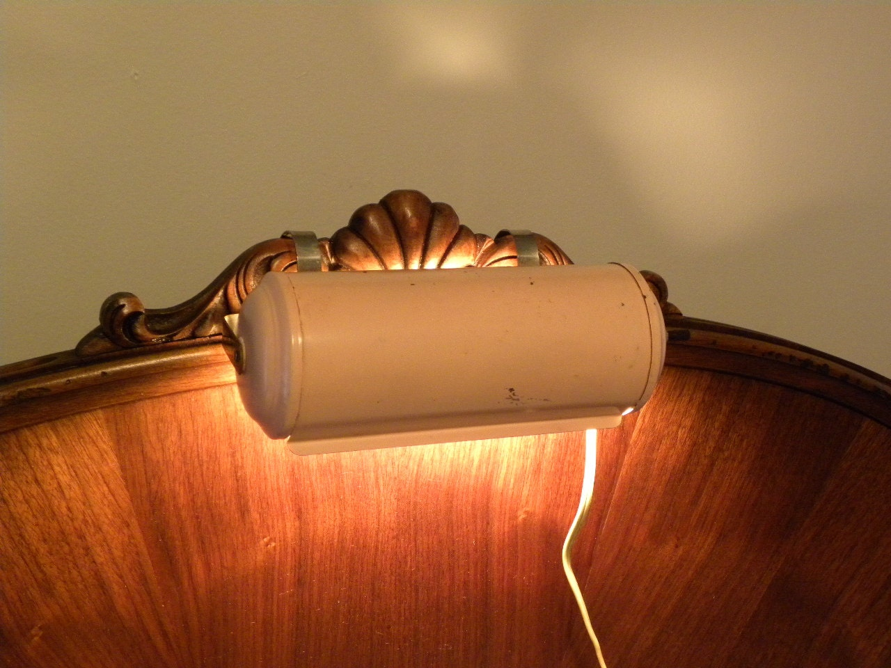 Vintage 1960 39 S Bed Headboard Reading Light Retro By
