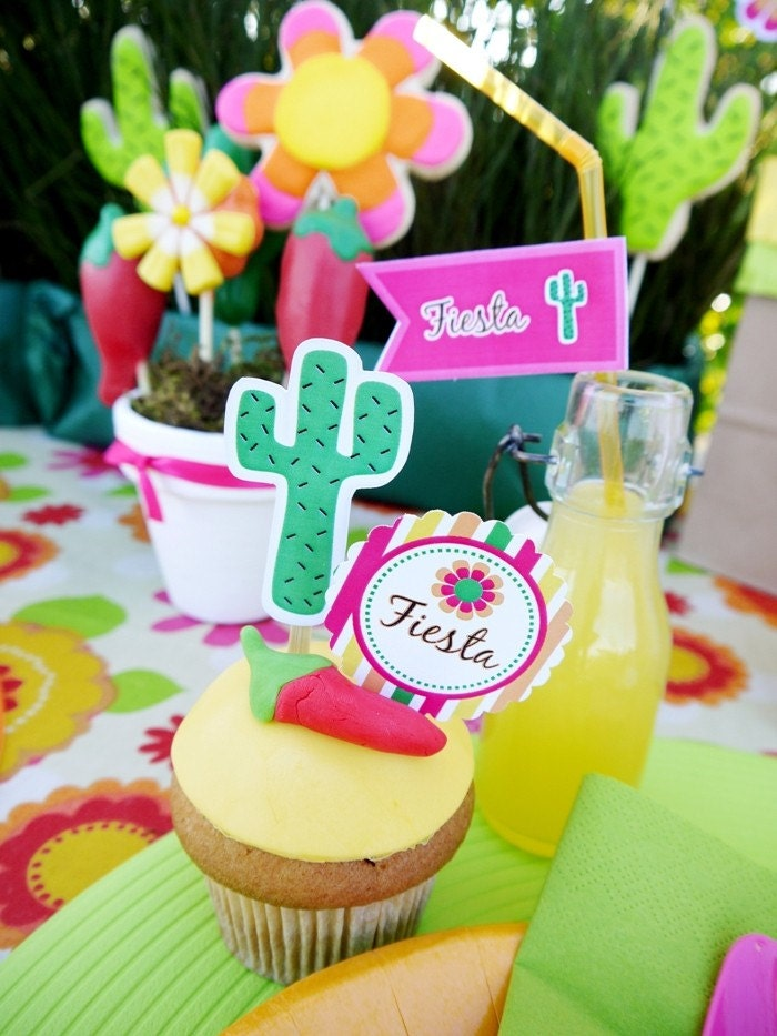 Mexican Fiesta Party Complete Printable Collection - Personalized by US with your NAME and AGE