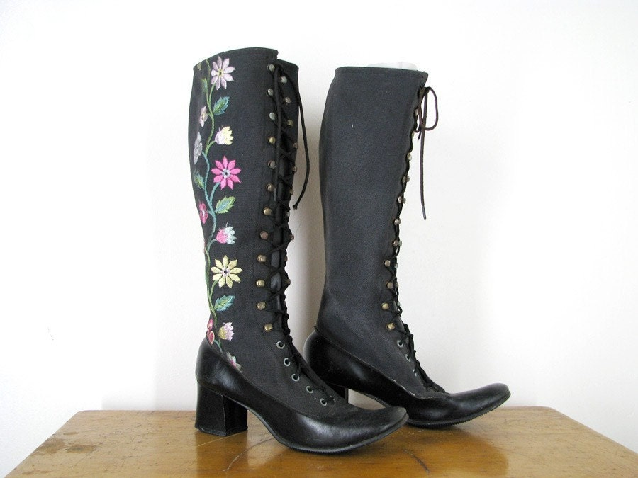Victorian GO GO BOOTS mod 60s fits like a 7N no.265