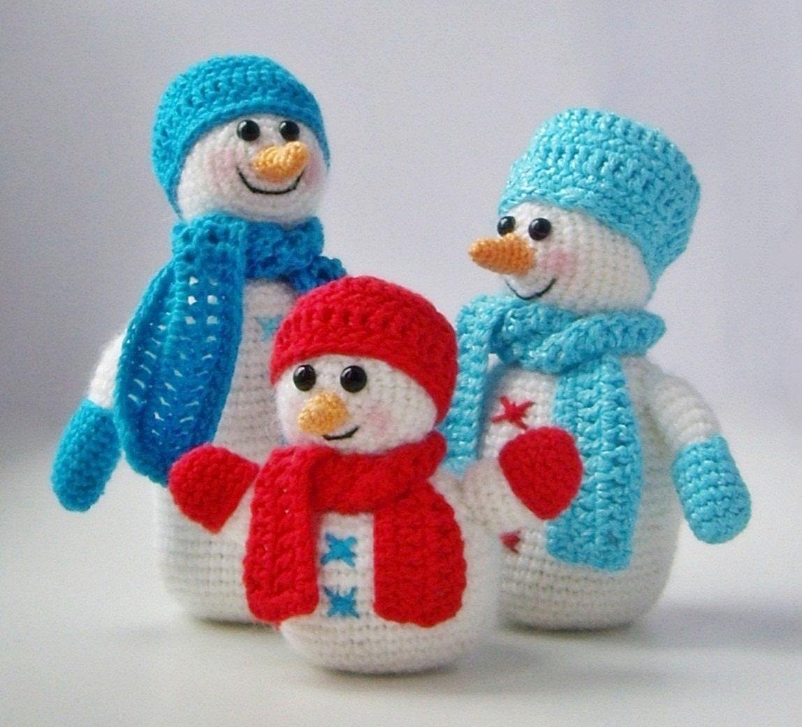 Мягкие игрушки крючком к новому году