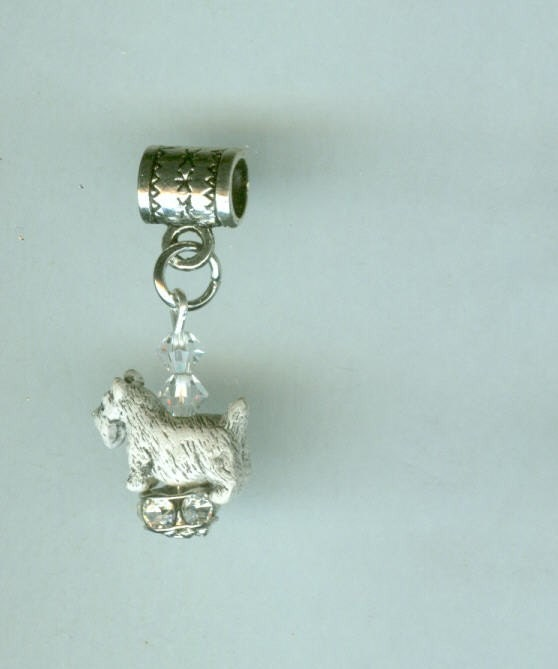 white scottish terrier charm for pandora by shymalillamas