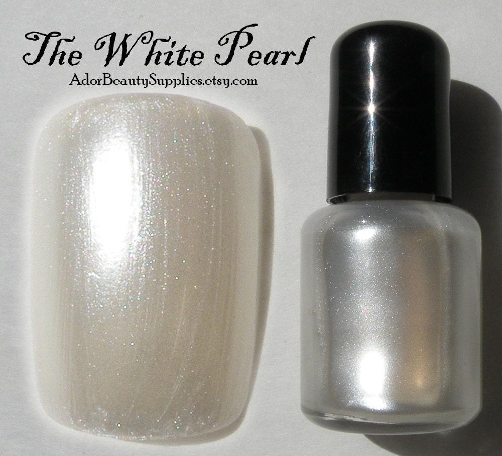 Pearl Nail Polish: The White Pearl Nail Polish 8 Ml Vegan By AdorBeautySupplies