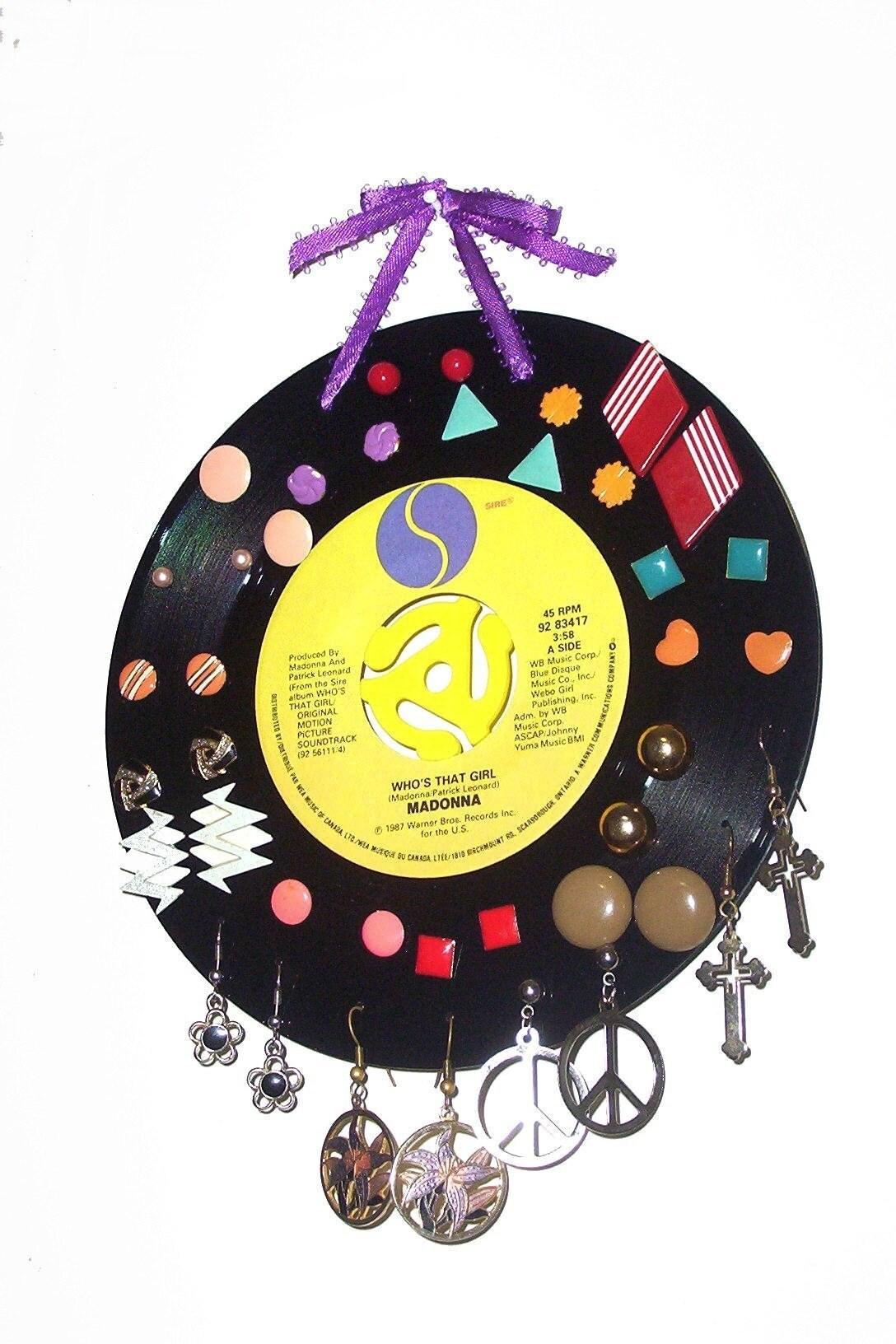 Vinyl Record Earring Holder The Spinners
