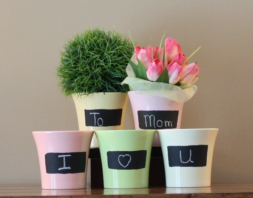 Chalk Pots- Spring Collection Pink