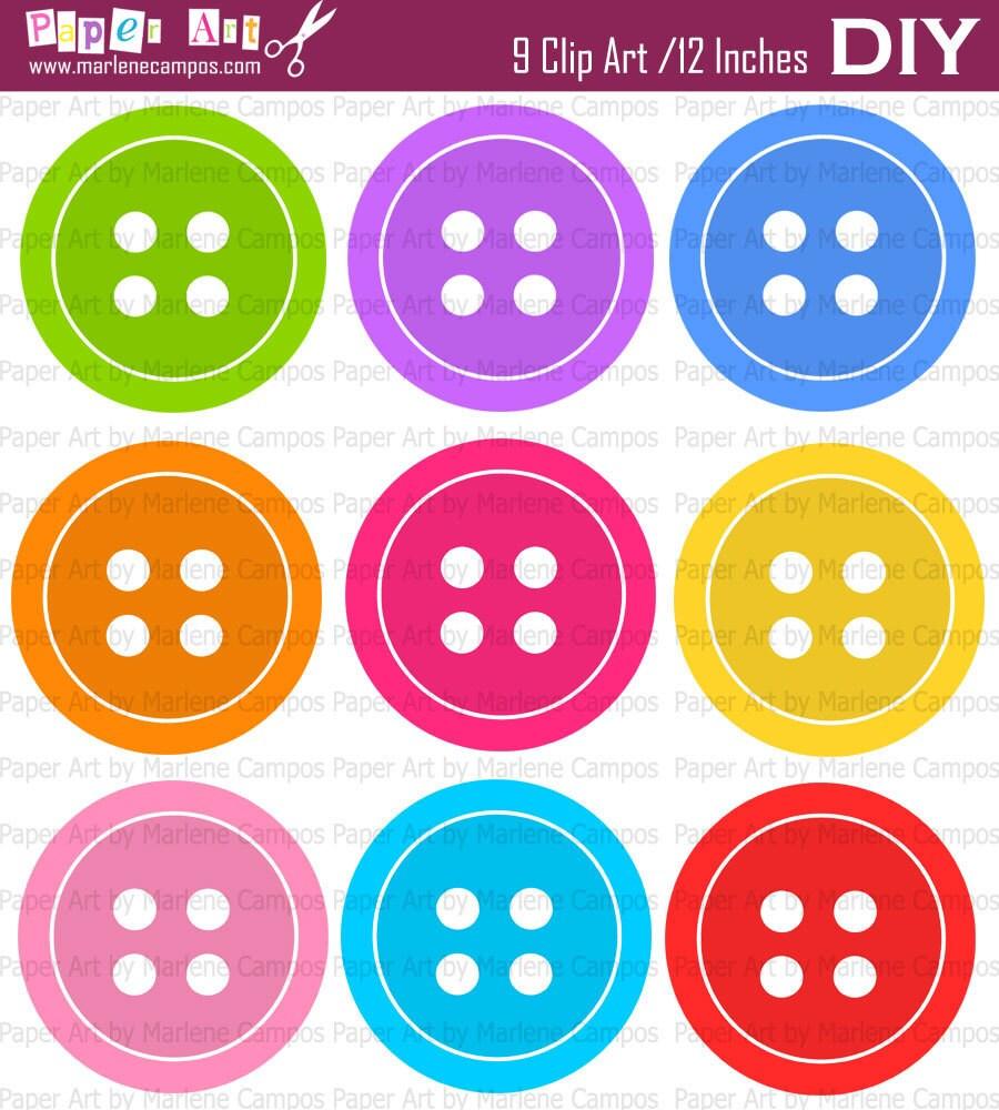 INSTANT DOWNLOAD - Button Digital Clip Art, bright colors button clip ...: catchmyparty.com/vendors/product/instant-download-button-digital...