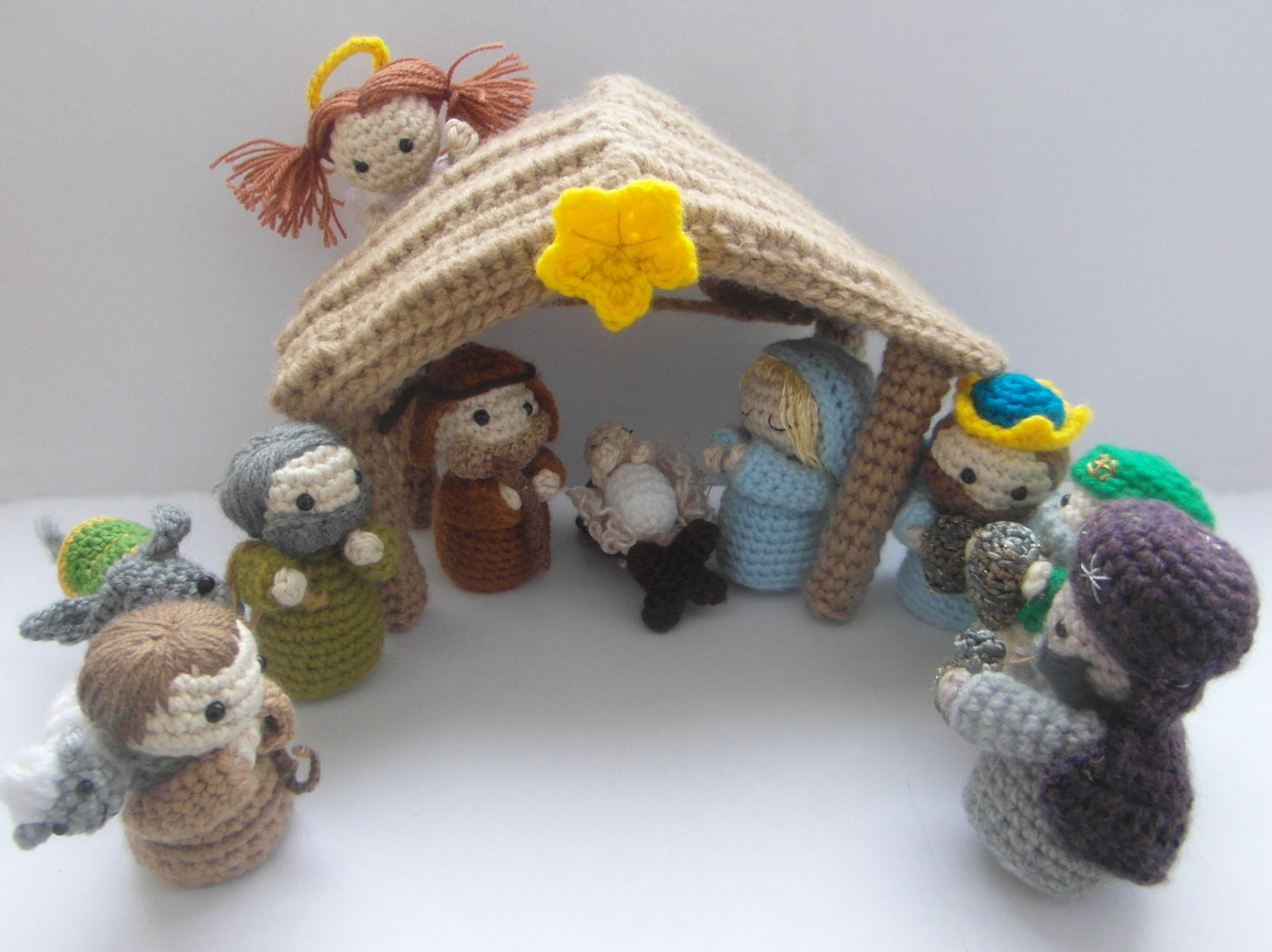 Crochet Patterns Nativity Scene : Items similar to Amigurumi Nativity Scene - crochet ...