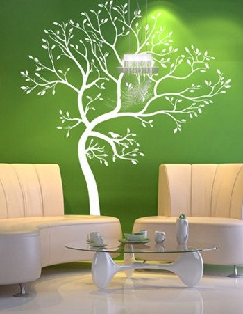 Vinyl Wall Art Decal -- Spring Tree  (2)Decals