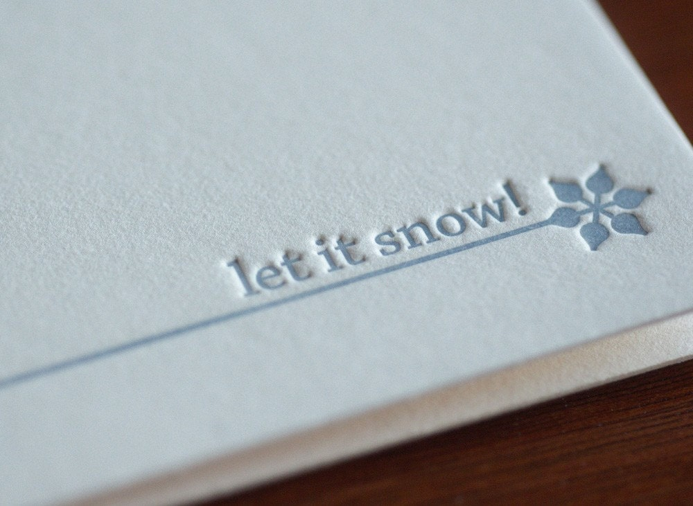 mix-and-match letterpress holiday cards