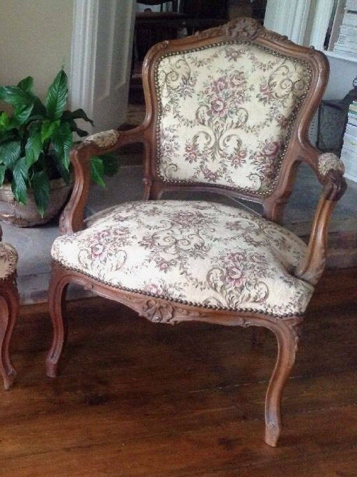 Antique Armchair French Neo Classic Louis XV Furniture 1880 Napoleon III Chateau Furniture Boudoir Home Decor One pc Walnut Chair