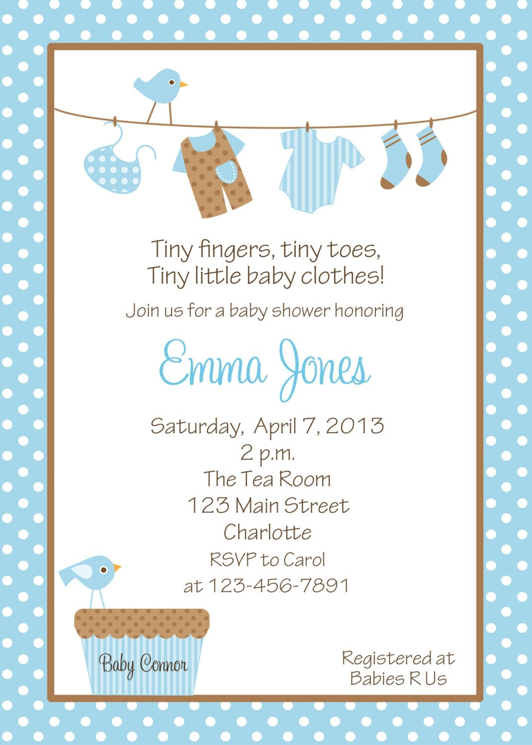 baby boy shower invitation baby clothes baby boy shower invitation