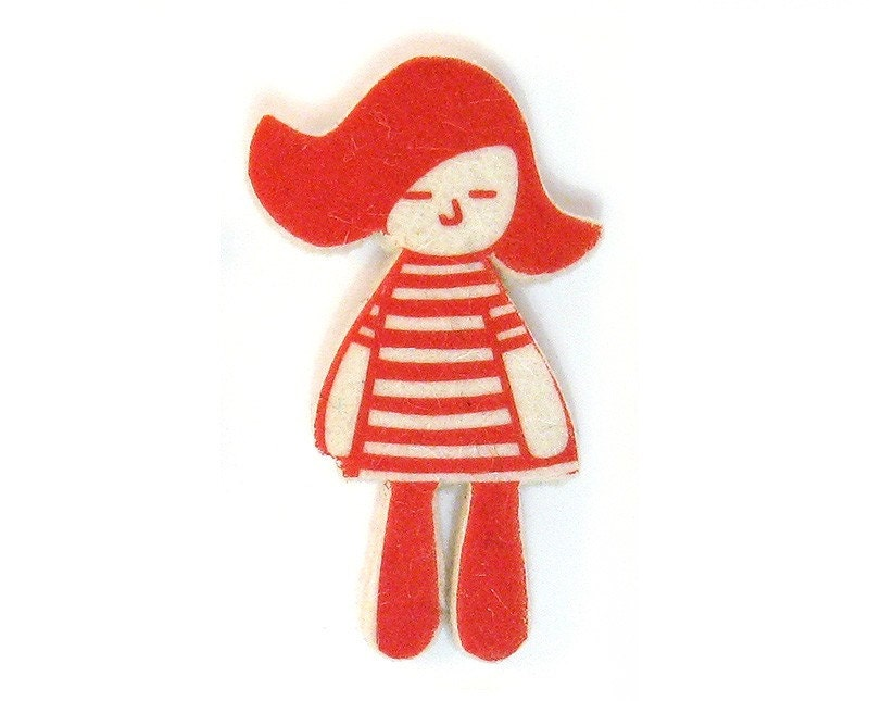Little Doll OLULITA Felt Brooch