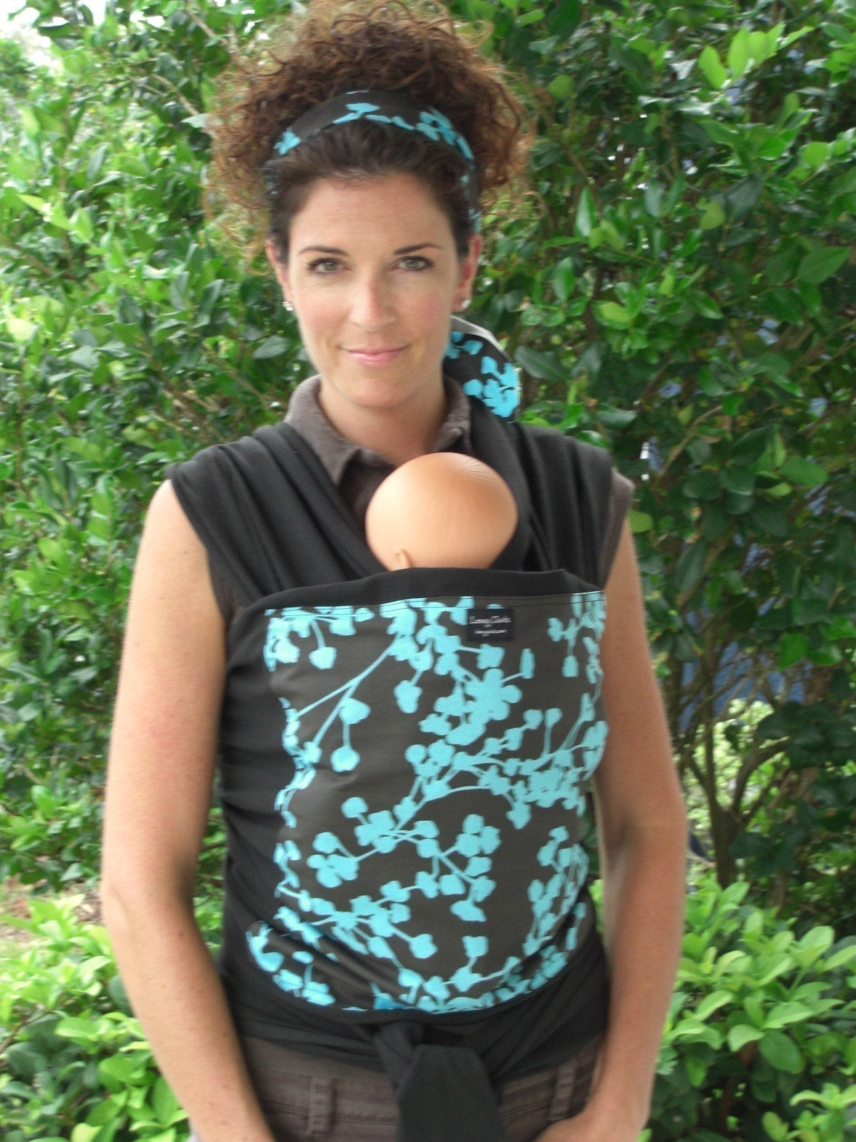 Etsy :: loveyduds :: Custom Baby Wrap/Sling Carrier-Black Wrap with Midnight Blue from etsy.com