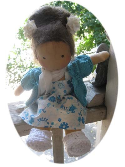 Fabiola Fabulous Waldorf style cloth doll By Fairywooldolls