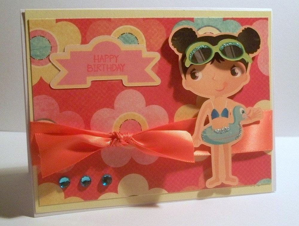 Happy Birthday card for Girl