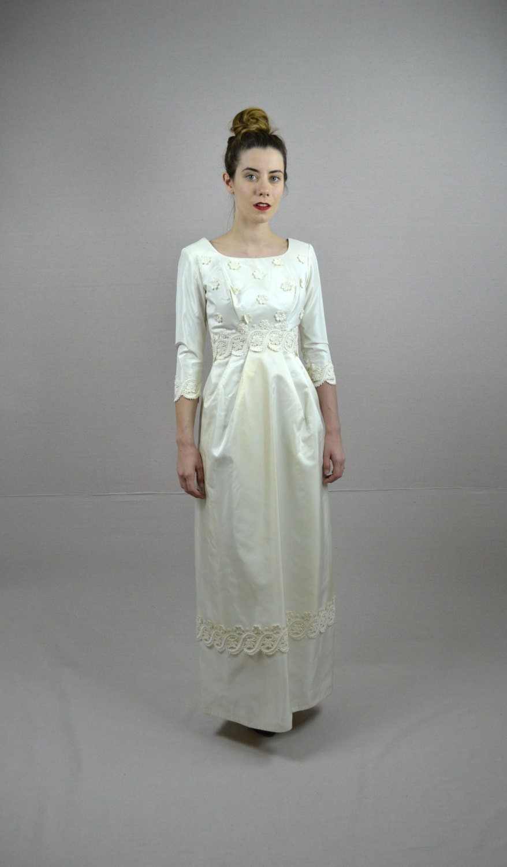 Sale 60s wedding dress 1960s wedding dress by for 60s style wedding dresses
