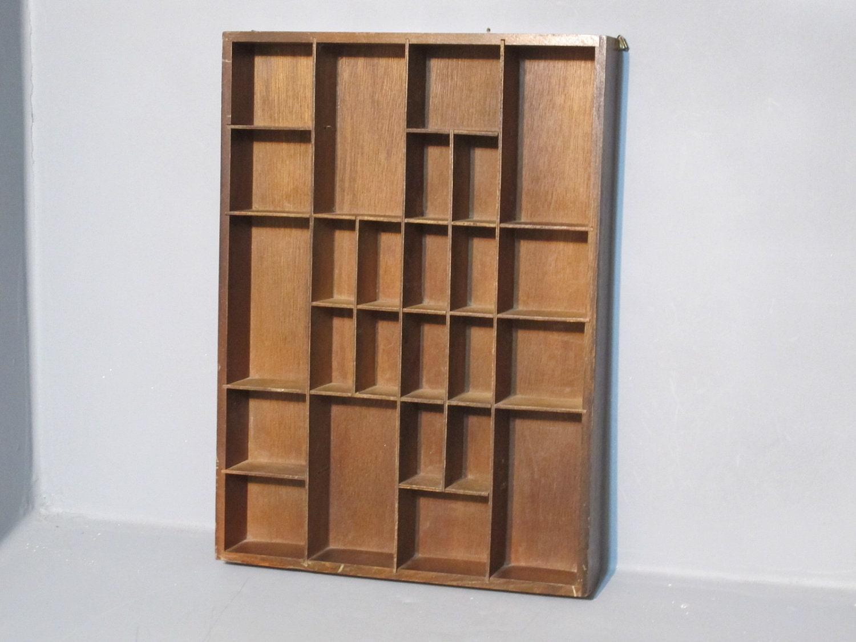 vintage decorative wooden shadow box shelf by milkacervenka. Black Bedroom Furniture Sets. Home Design Ideas