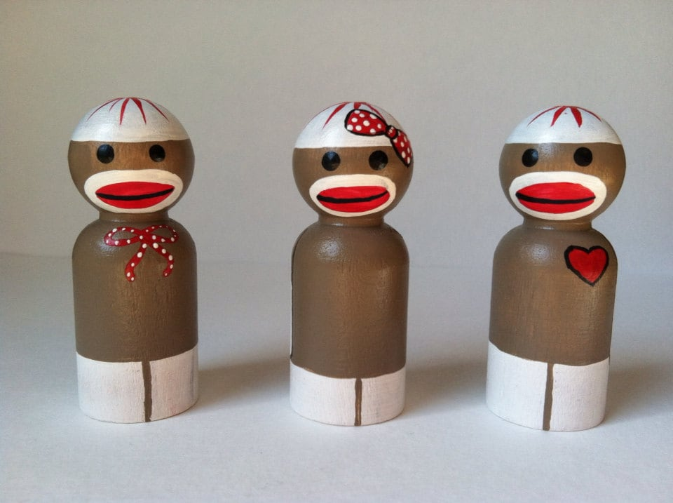 the retro collection: a trio of sock monkeys - thewhimsicalsweet