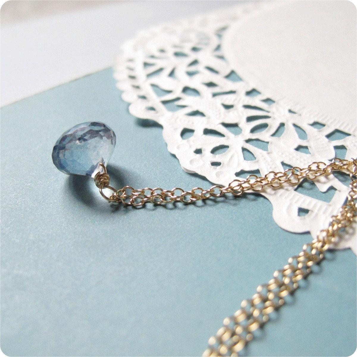 pear shaped blue mystic quartz pendant giveaway