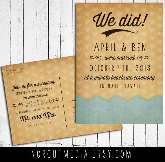 Do I Buy A Wedding Gift For A Destination Wedding : Beach Wedding Announcement Wedding Announcements by starboardpress